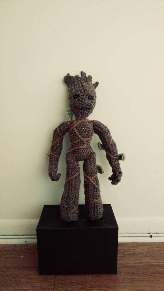 I am Groot Inspired Crochet Plush Toy by DebsCreativeCrochet