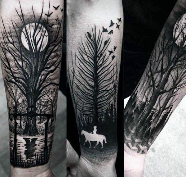 60 Negative Space Tattoo Designs für Männer – Manly Ink Ideen