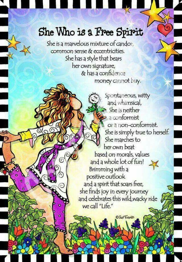 She who is a free spirit