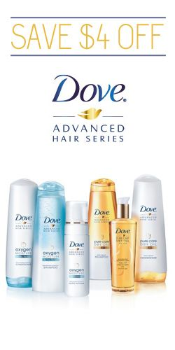 #Save $4 off #Dove Advanced Hair Series Products