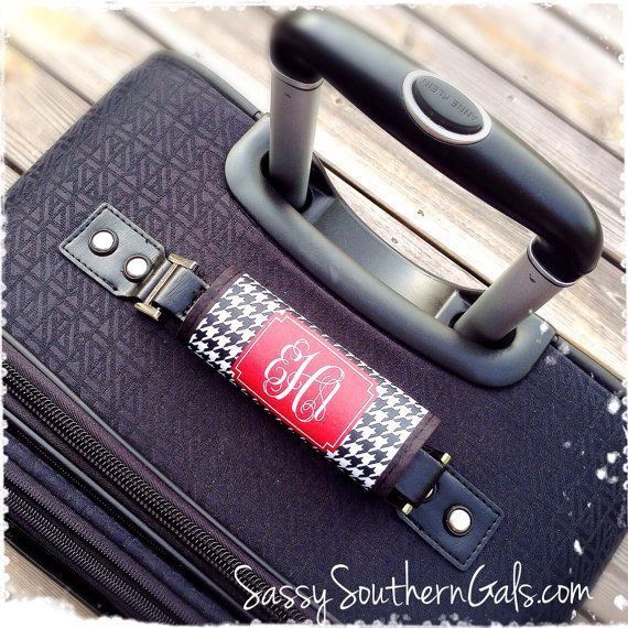 Never search for your luggage again! Make your bag stand out from all the rest. Easily find your luggage with our personalized luggage tag. Over 50+ designs and colors to choose from. www.SassySouthernGalscom Travel| Vacation | Monogrammed Gift | Personalized Gift | Destination Wedding | Family Vacation | Business Traveler | Bridesmaid Gift | Design Your Own | Travel Accessories |