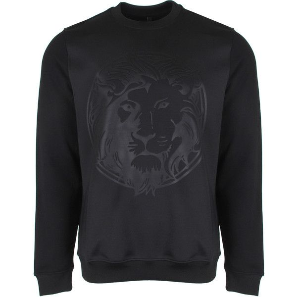 Versus Versace Lion Head Sweatshirt (1.080 BRL) ❤ liked on Polyvore featuring men's fashion, men's clothing, men's hoodies, men's sweatshirts, mens sweatshirts and hoodies, mens short sleeve sweatshirt, mens sweatshirts and mens jerseys