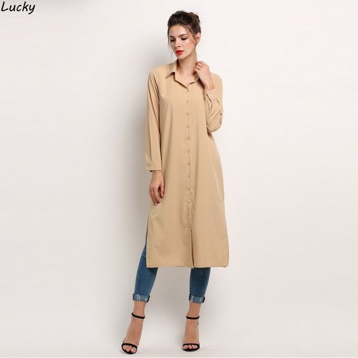 Free Shipping - Stylish Solid Color Button Down Summer Casual / Work Shirt Dress