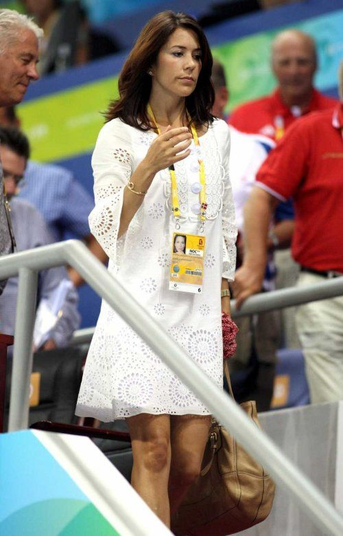 Princess Mary Of Denmark During The Preliminary Group B