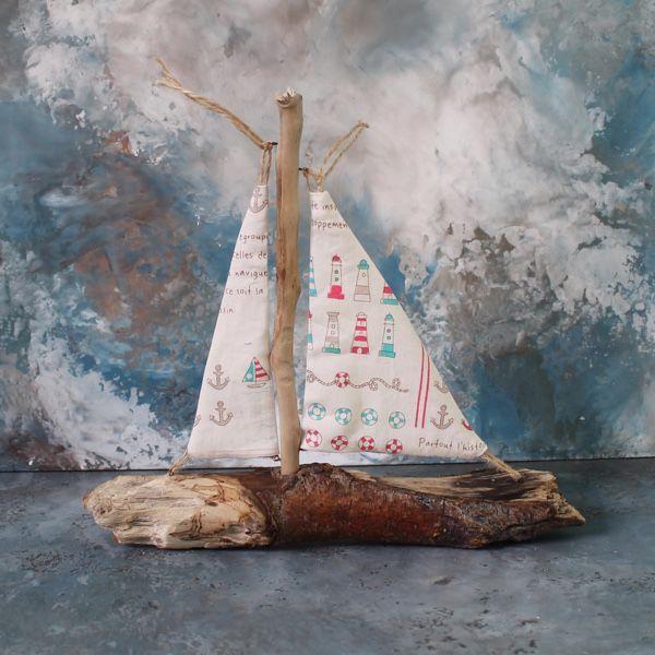 "Купить Кораблик из морских коряг ""Маяк"" - дрифтвуд, коряга, дрифтвуд"