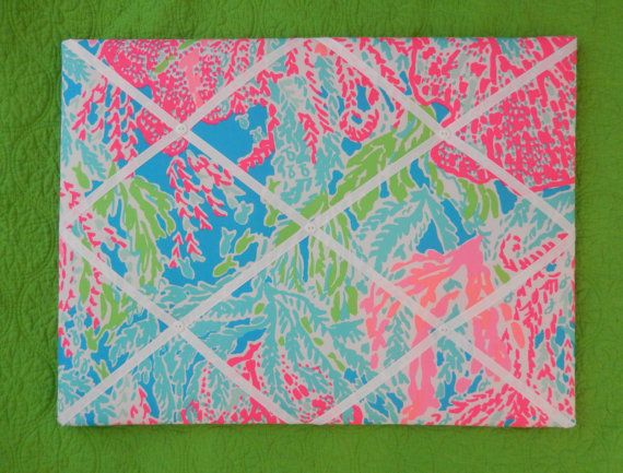 New Memo Board Made With Lilly Pulitzer 2013 Lets Ch Cha Fabric Good Looking
