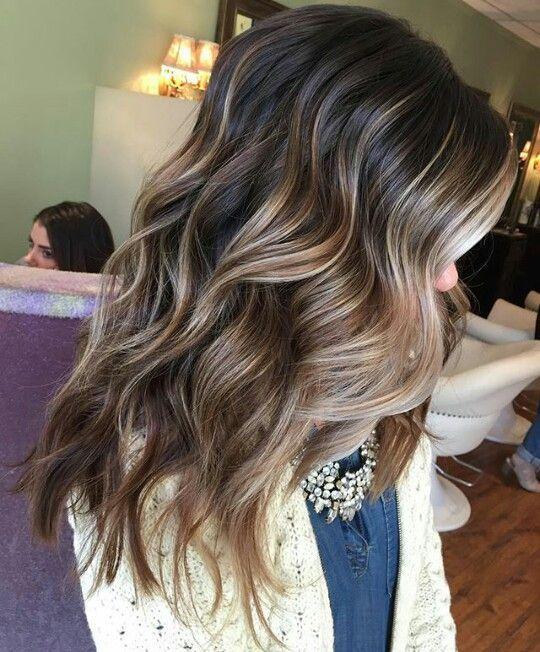 Dark Brown Hair with Blonde Balayage
