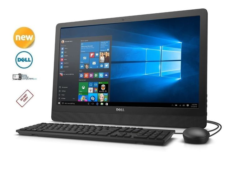 "NEW All in One DELL Desktop Computer 23.8"" Windows 10 WiFi Webcam (FULLY LOADED) #Dell"