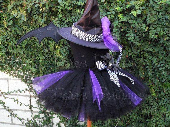 Tutu Witch Costume Willow the Wild Witch Black by TutuTiara