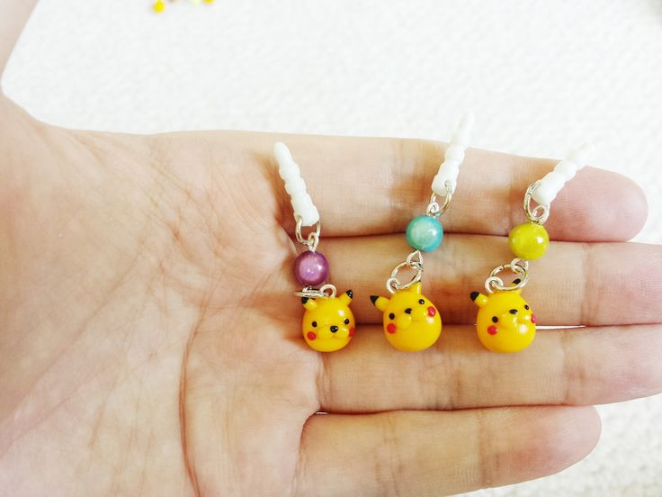 PIKACHU CAT DUST PLUGS  Sold here: https://www.etsy.com/listing/199984665/pikachu-cat-dust-plug?ref=shop_home_feat_1