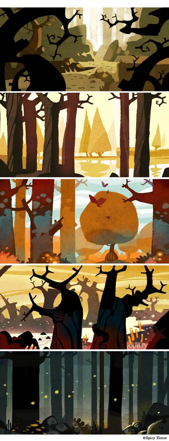 haunted forests by betteo