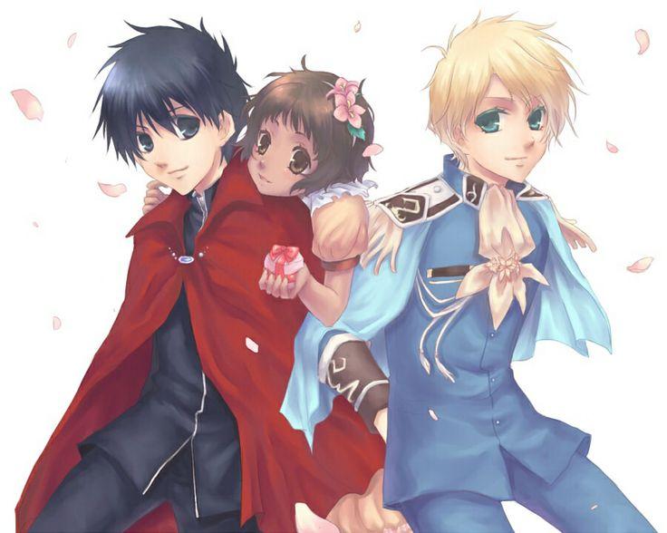 Yuuri, Greta, and Wolfram        _Kyo Kara Maoh!