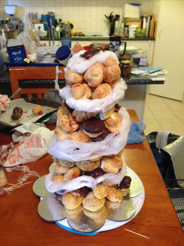 For Maddy Sept 2016 Croquembouche with fairy floss wrap