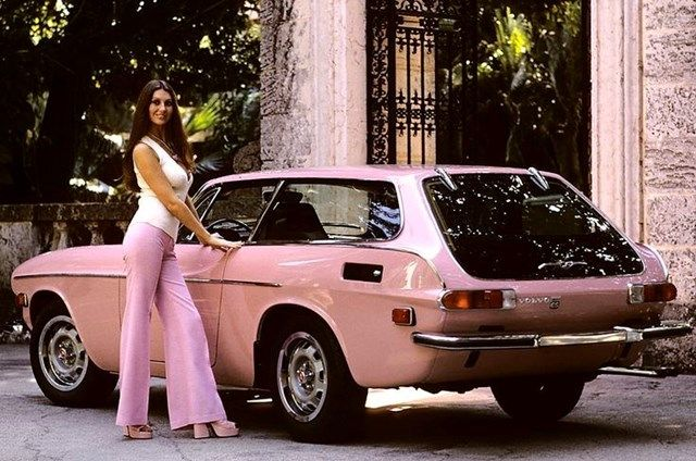 Pink Volvo P1800 on AnOther Loves