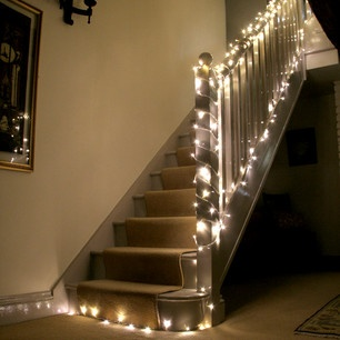 I did this in my old place, fairy lights are not just for christmas