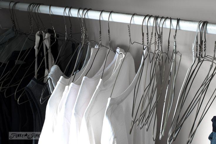Learning to clean the KonMari way / organized closet