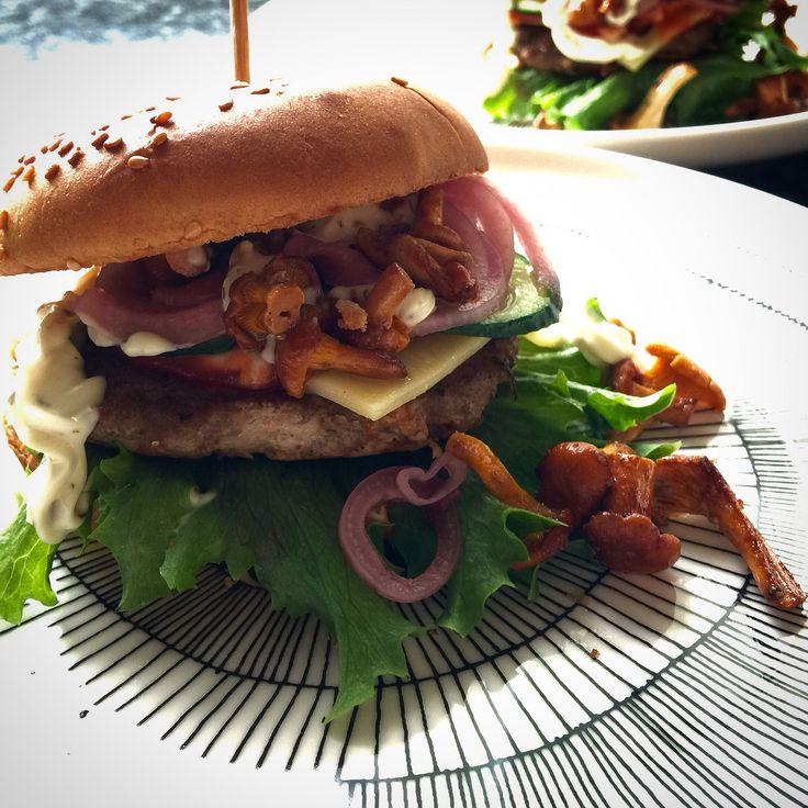 Kanttarelli -burger,   Bbq, chanterelle