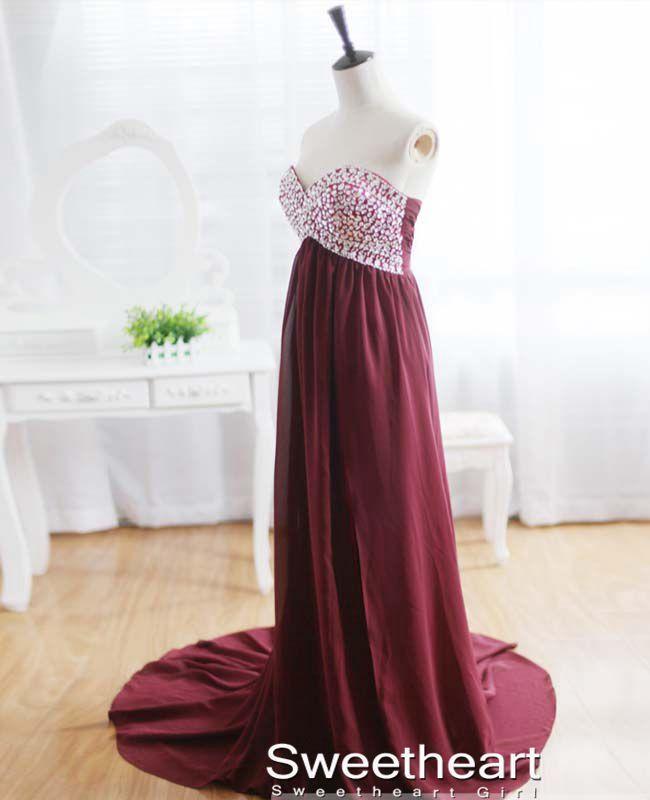Charming A-line Chiffon Long Prom Dresses, Evening Dresses, Formal Dresses - Thumbnail 1