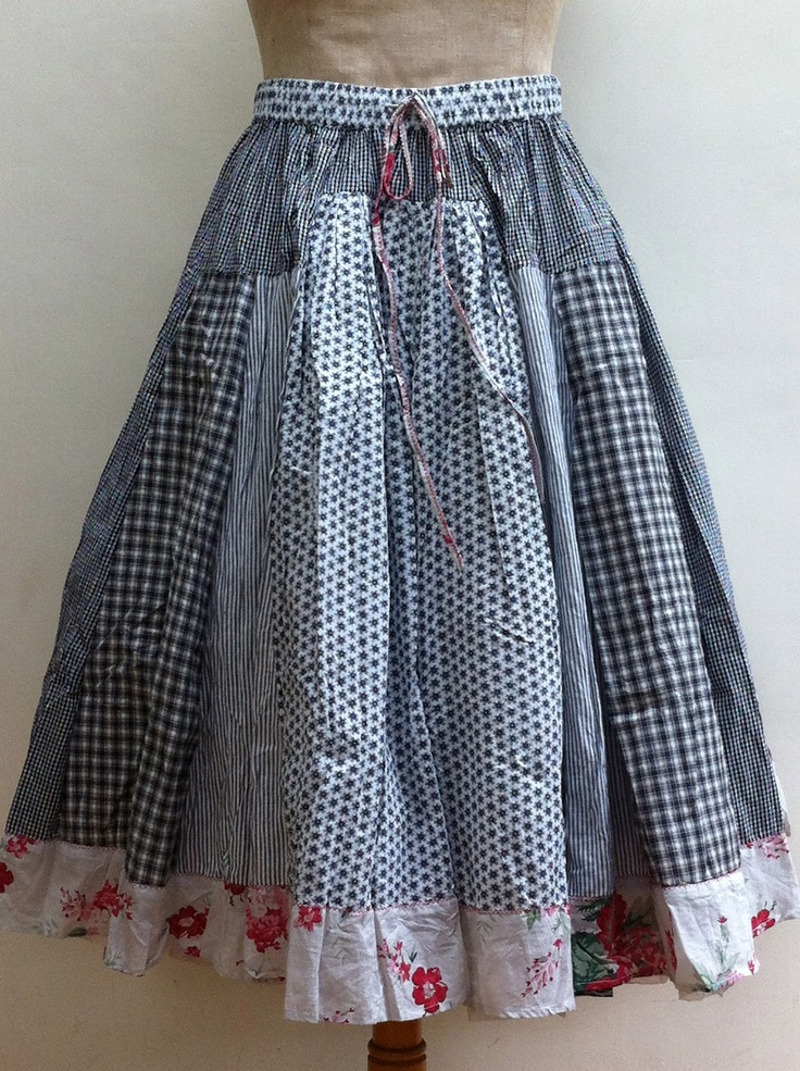 SESAME-CLOTHING...divine patchwork skirt by Nadir Positano, would make a cute apron!