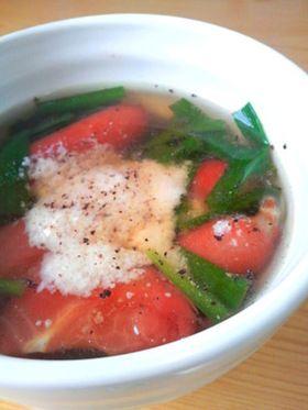 トマト&ニラのスープ♪ダイエット中に^^ by clover82 [クックパッド ...