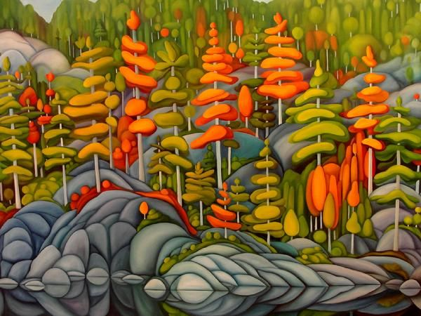 "Temagami 48"" by 60"" Oil on Canvas"