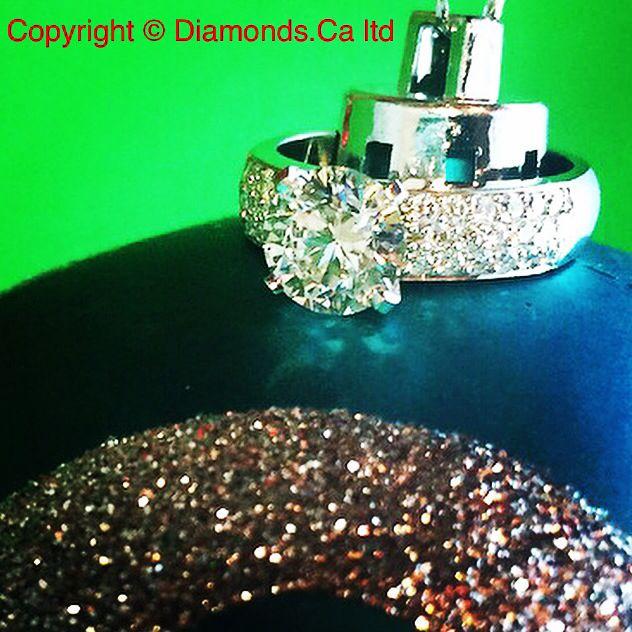 Pretty Canadian diamond pave ring.
