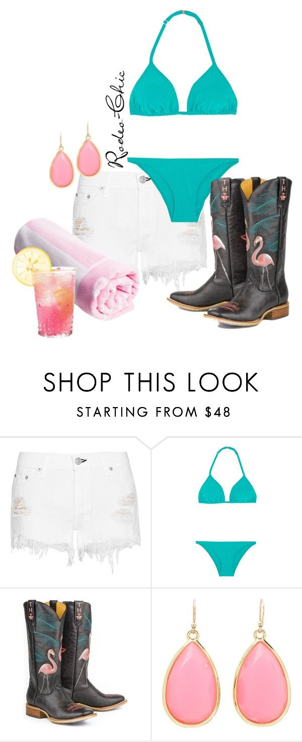 """Trailerhood"" by rodeo-chic ❤ liked on Polyvore featuring rag & bone, Orlebar Brown, Kate Spade, country, western, cowboyboots and cowgirlboots"