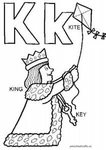 free letter k coloring pages for preschool - K Coloring Pages