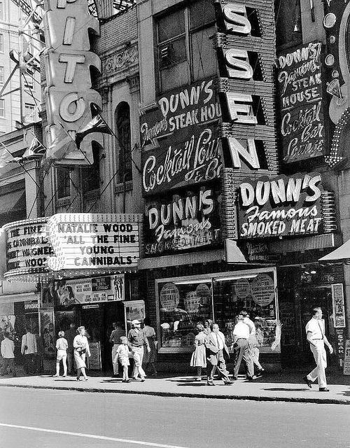 Montreal, 1960. Dunns was the place to go. Went after going next door to the Capitol Theatre.