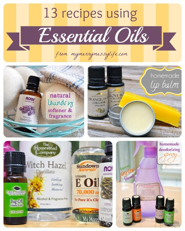 13 Different Cleaning and Body Care Recipes Using Essential Oils ~ Some Great Recipes and Tutorials
