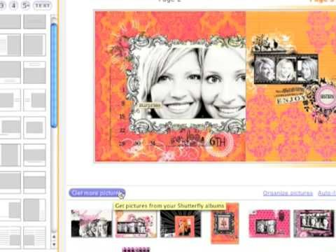 RhonnaFarrer Shutterfly Book Tutorial. How to upload your own custom pages that you've made in photoshop or whatever other software you have.
