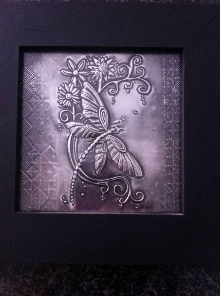 Dragonfly in a frame by Amanda Stein designs