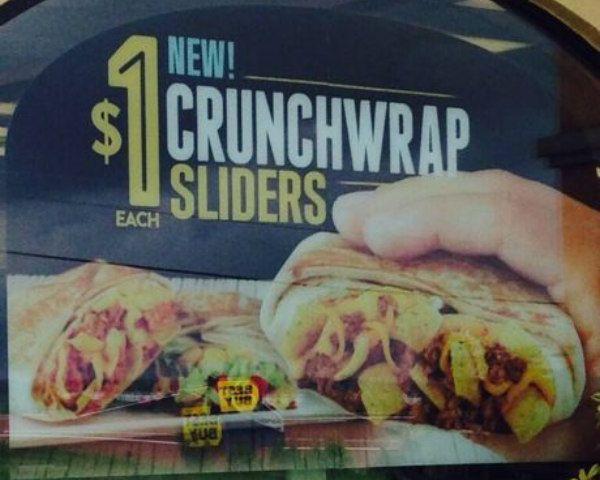 Taco Bell is Testing Crunchwrap Sliders #TacoBell #sliders #crunchwrap #livemas