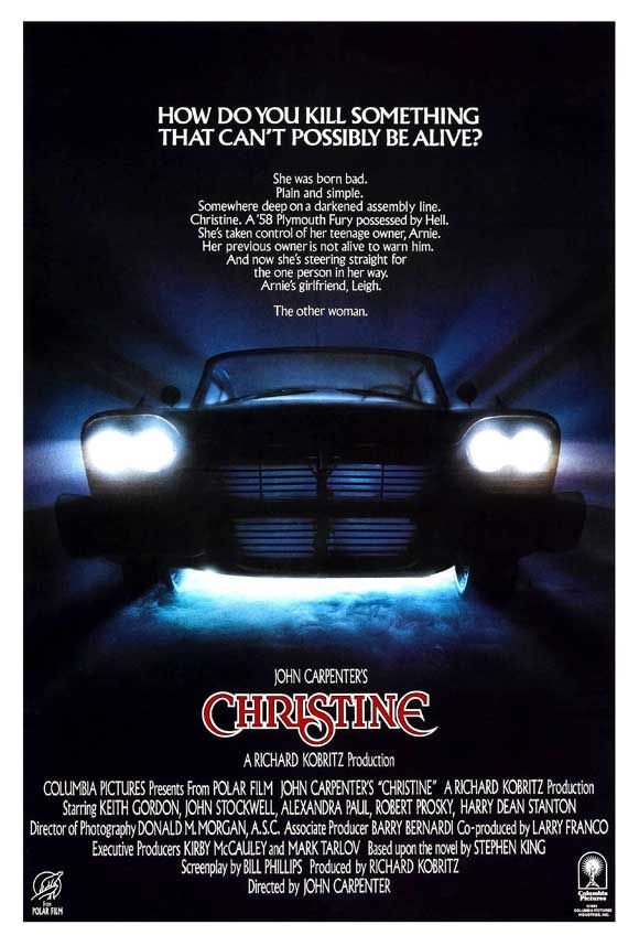 1983. John Carpenter directed this story written by Stephen King.