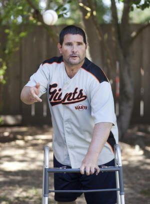 Comeback kid: Giants fan Bryan Stow continues his 'miraculous' recovery Bryan Stow practices throwing baseballs to his father, Dave, in the backyard of their home in Capitola, Calif., Tuesday, April 14, 2015.