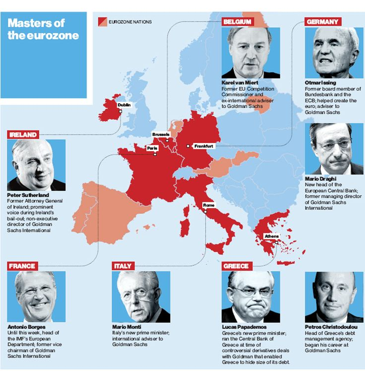 What price the new democracy? Goldman Sachs conquers Europe Archive: Friday 18 November 2011 While ordinary people fret about austerity and jobs, the eurozone's corridors of power have been undergoing a remarkable transformation