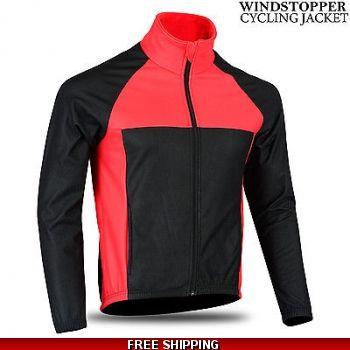 mens cycling fleece jacket