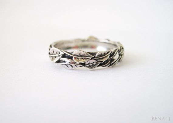 Leaf Ring In Silver, Handmade Jewelry, Friendship Ring, New Designer Silver, Forest Ring, Natural Ring, Leaves Ring, Floral Ring, Sale
