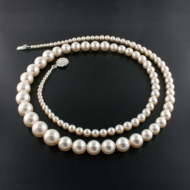 """36"""" Graduated Pearl Necklace"""
