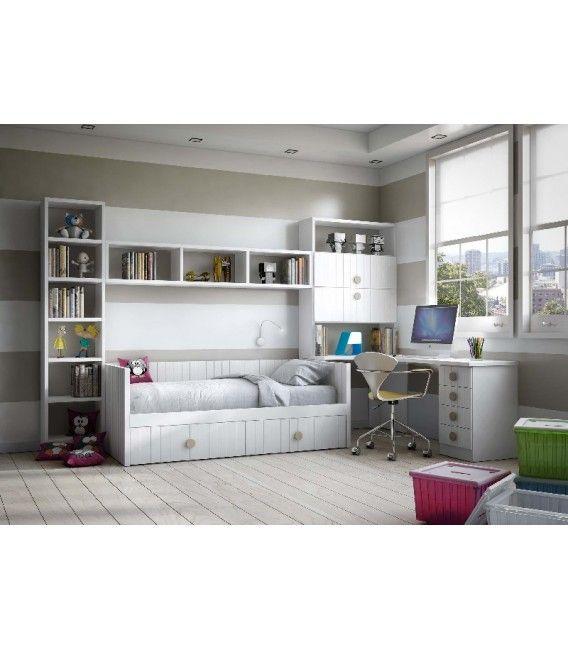Dormitorio Juvenil Lacado Puente
