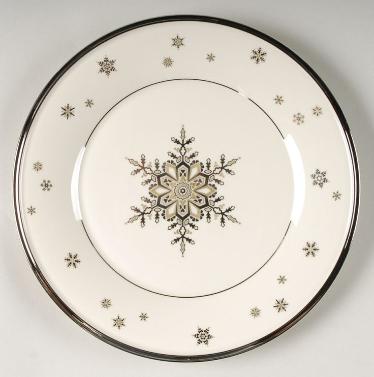 """Lenox """"Solitaire"""" - a very pretty pattern for Winter or the holidays..."""