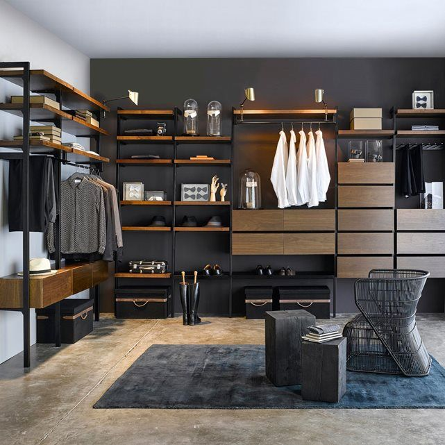 17 meilleures id es propos de dressing angle sur pinterest armoire pender - Systeme dressing modulable ...