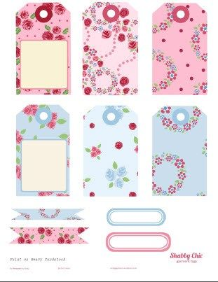 Free Printable Download – Shabby Chic Journaling Elements-click on the image to download pdf