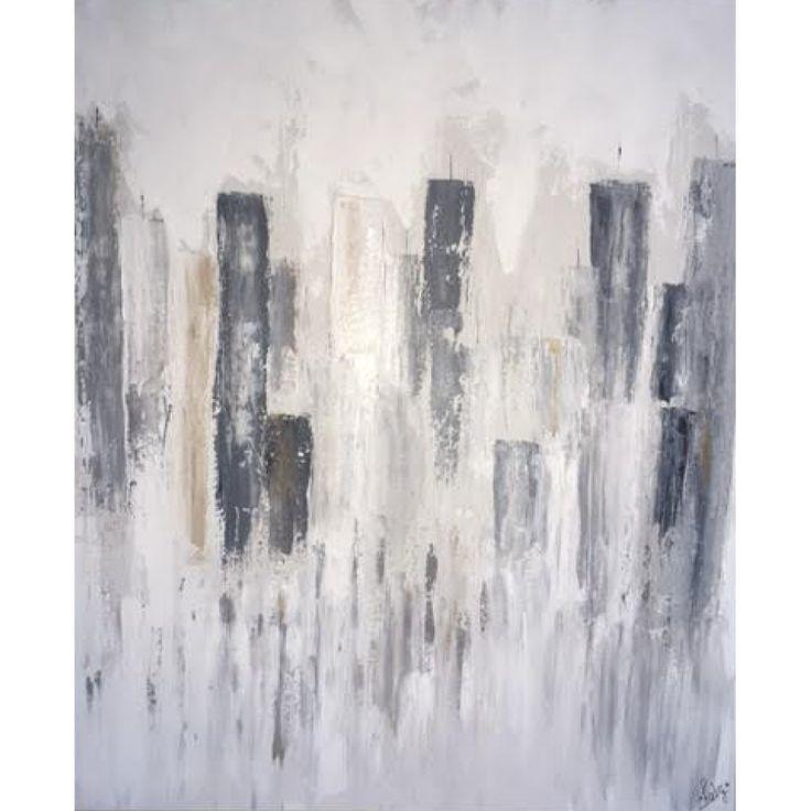 Le cadre sur toile de canevas Manhattan est entièrement peint à la main par l'artiste québécoise Chaby.