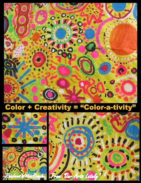 """""""Color-a-tivity"""" in Children's Art by Debbie Clement from Rainbows Within Reach at PreK + K Sharing"""