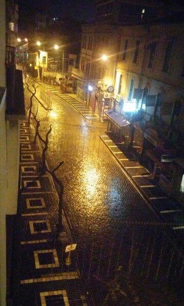 Rainy night ☔#Trabzon city