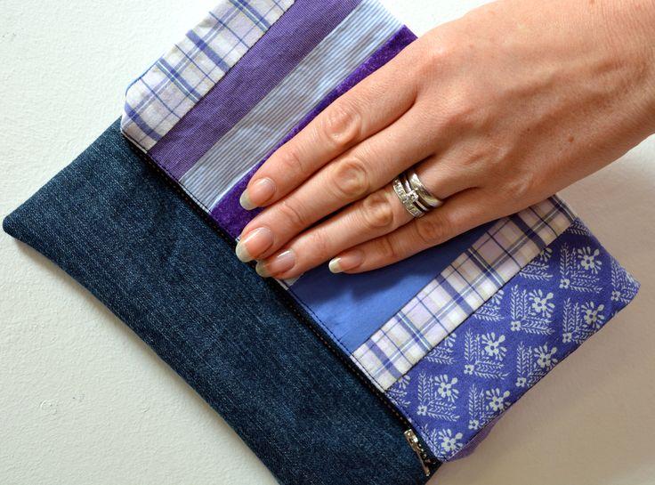 Upcycled denim clutch bag - tutorial