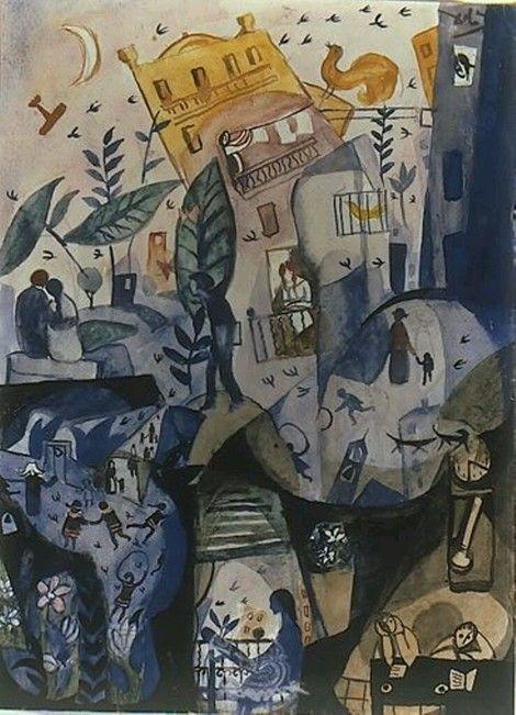 Salvador Dalí, The First Day of Spring 1922-23 on ArtStack #salvador-dali-1 #art