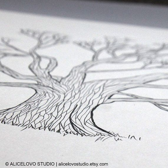 Small Fingerprint Live Oak Tree Wedding Guest Book Hand Drawn: 91 Best Images About Thumbprint Projects On Pinterest