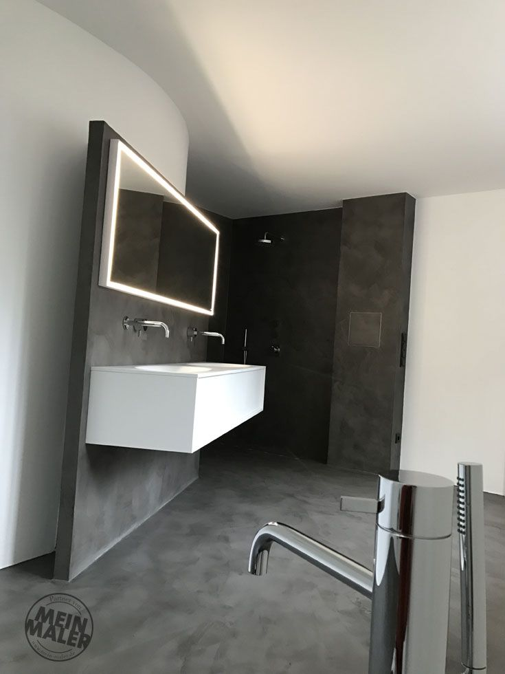 Fugenloses Badezimmer mit Mikrozement - Maler Trynoga, Wuppertal